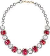 Amrapali Silver, Ruby And Diamond Necklace - one size