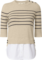 Veronica Beard Stripe Mariner Combo Sweater