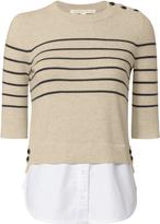Veronica Beard Stripe Mariner Combo Sweater