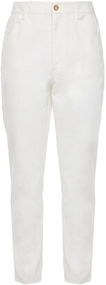 Diane von Furstenberg Stretch-cotton Slim-leg Pants