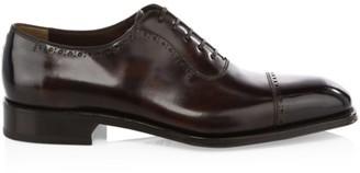 Salvatore Ferragamo Brawell Leather Oxford Shoes