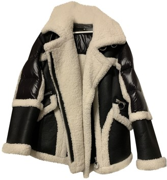 Nicole Benisti Black Shearling Coat for Women