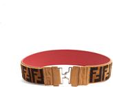 Fendi Logo shearling belt