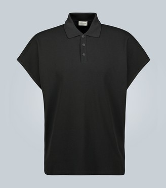 Saint Laurent Boxy cotton polo shirt
