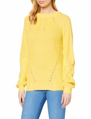 Dorothy Perkins Women's Sunshine Yellow Stitch Interest Jumper Sweater 14
