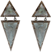 Labradorite & Champagne Diamond Ludlow Earrings