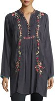 Johnny Was Prairie Vine Embroidered Long Tunic, Plus Size