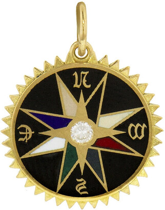 Foundrae Black Champleve Course Correction Yellow Gold Medallion