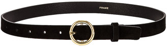Frame Le Petit Circle Belt in Noir | FWRD
