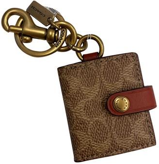 Coach Khaki Leather Bag charms