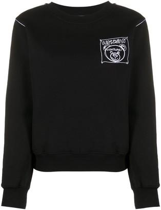 Moschino Teddy Bear embroidered crewneck sweatshirt