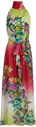 New York & Co. Floral Halter Maxi Dress