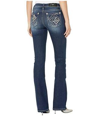 Miss Me Abstract M Chloe Bootcut Jeans in Dark Blue