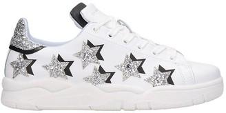 Chiara Ferragni Stars Sneakers In White Leather