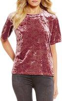 Love on a Hanger Crushed Velvet Short Sleeve Top