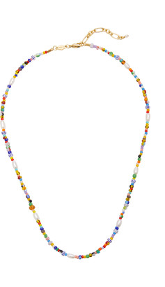 Anni Lu Petit Alaia Beaded 18K Gold-Plated Necklace