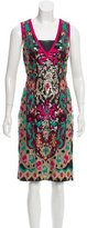 Naeem Khan Embellished Midi Dress
