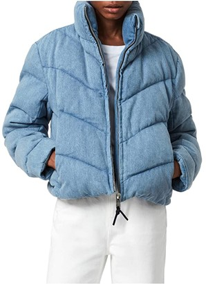 AllSaints Dallas Denim Puffer (Light Indigo) Women's Coat
