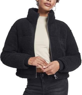 Urban Classics Women's Ladies Boxy Sherpa Puffer Jacket