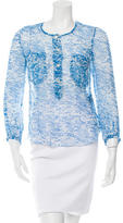 Etoile Isabel Marant Printed Silk Long Sleeve Blouse w/ Tags