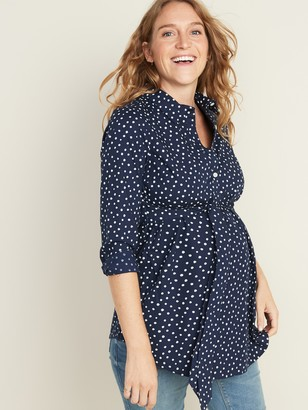 Old Navy Maternity Printed Tie-Waist Pullover Tunic