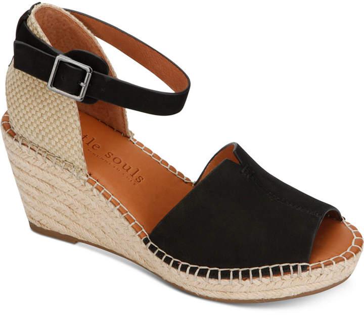 7836d81d0f Gentle Souls Black Platform Wedge Women's Sandals - ShopStyle