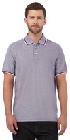 Maine New England Purple Textured Polo Shirt