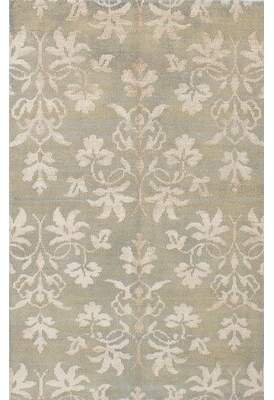 "Trudeau Charlton Home One-of-a-Kind Hand-Knotted 4'10"" x 7'8"" Wool/Silk Tan Area Rug Charlton Home"