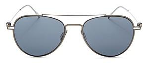Montblanc Men's Brow Bar Aviator Sunglasses, 56mm