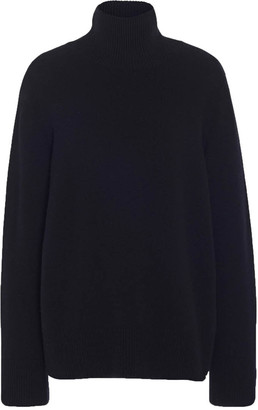 The Row Milina Wool-cashmere Knit Turtle-neck Sweater