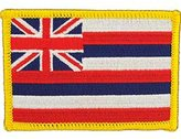 """FindingKing Hawaii State Flag Patch 2 1/2"""" x 3 1/2"""""""