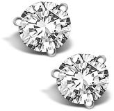 Ice 1/10 CT TW Round Diamond 14K White Gold Stud Earrings