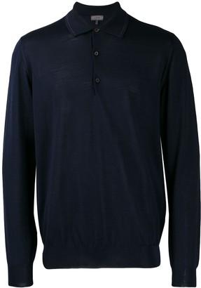 Lanvin fine knit polo shirt