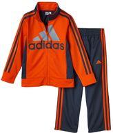 adidas Boys 4-7x Striped Track Jacket & Athletic Pants Set