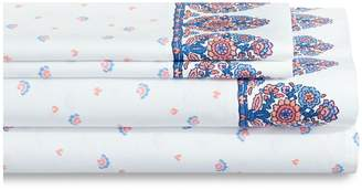 Martha Stewart Whim Paisley Print 200-Thread Cotton Four-Piece Sheet Set