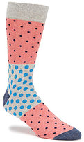 Daniel Cremieux Color Block Polka-Dot Crew Dress Socks