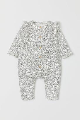 H&M Sweatshirt Jumpsuit - White