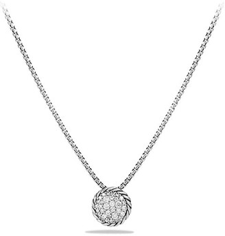 David Yurman Pave Petite Pendant Necklace with Diamonds