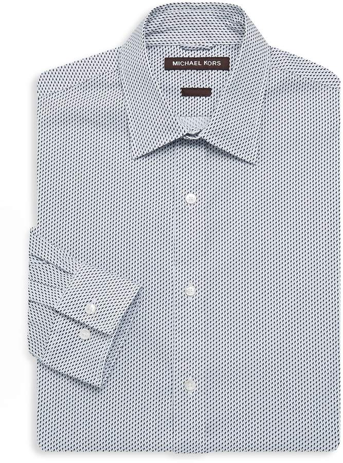 Michael Kors Trim-Stretch Patterned Dress Shirt