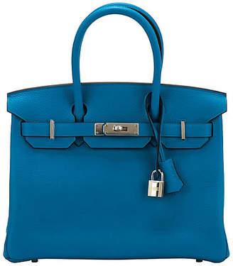 One Kings Lane Vintage Hermes Blue Zanzibar Togo 30cm Birkin - Vintage Lux