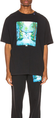 Off-White Off White Waterfall Oversized Tee in Black Multi | FWRD