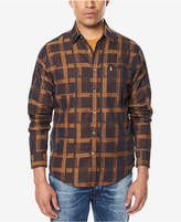 Sean John Men's Big & Tall Two-Tone Grid-Pattern Shirt