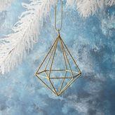 west elm Wire Glitter Gem Ornament - Long