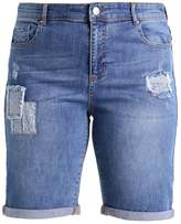 Evans PATCHWORK Denim shorts denim