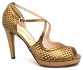 "Gastone Lucioli 5030"" Bronze Leather Sandals"