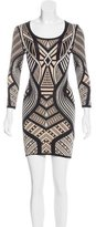 Torn By Ronny Kobo Intarsia Sheath Dress