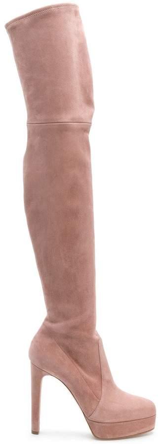 Casadei platform over-the-knee boots