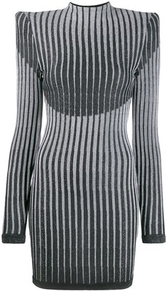 Balmain lurex knit fitted dress
