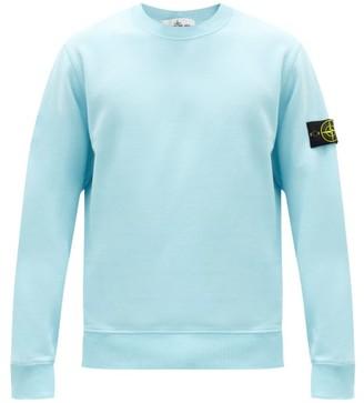 Stone Island Logo-patch Cotton-jersey Sweatshirt - Blue