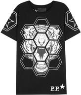 Philipp Plein Hush Black Embellished T-shirt
